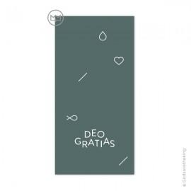 Signet religieux Deo Gratias Vert pin fabriqué en France - Godsavetheking