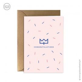 """Carte """"congratulations"""" (en français : félicitations) Godsavetheking"""