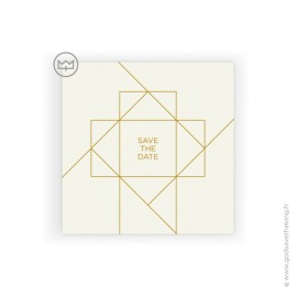 "Lot de 6 cartes ""SAVE THE DATE"" + enveloppes"