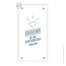 Signet de Confirmation symbole coeur - collection vintage - 6 x 12 cm
